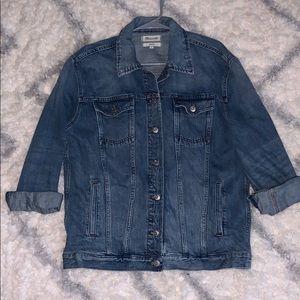 Oversized Madewell Blue Jean Jacket